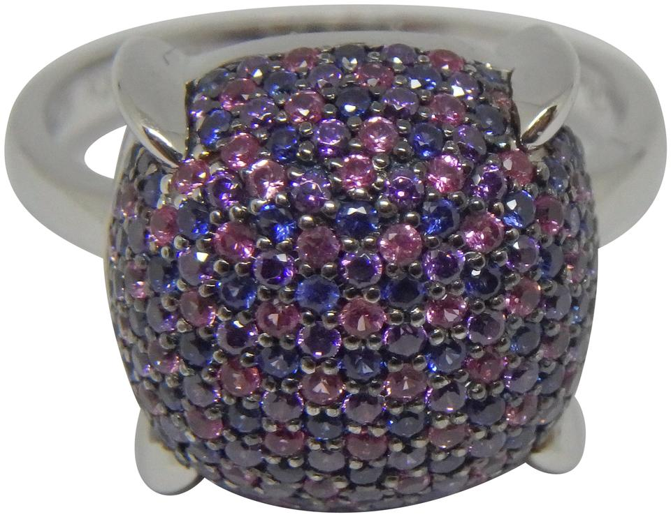 578a88031 Tiffany & Co. White Gold and Blue Pink Sapphire Amethyst Paloma ...
