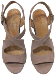 Coclico Famously Walkable Cork Platform Sandals Platform Nude Beige Wedges