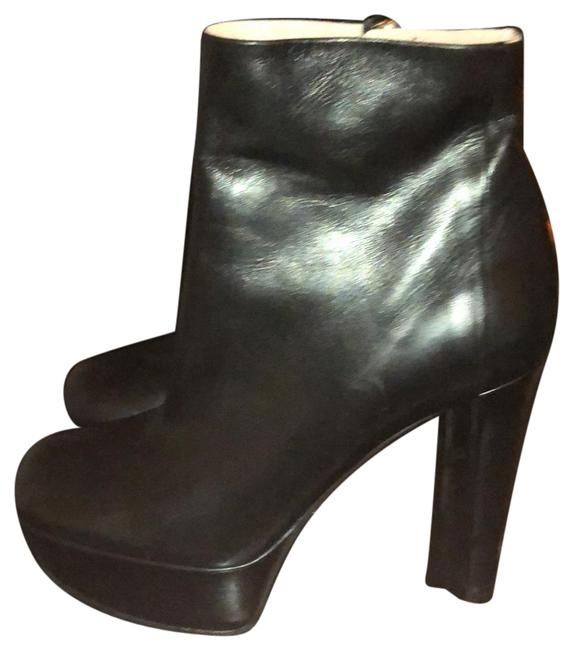 Item - Blk Leather Boots/Booties Size EU 38.5 (Approx. US 8.5) Narrow (Aa, N)