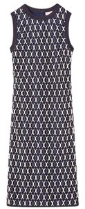 Navy and Beige Maxi Dress by Tory Burch