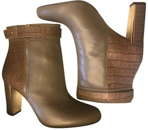 Ann Taylor Side Zip Taupe latte Boots