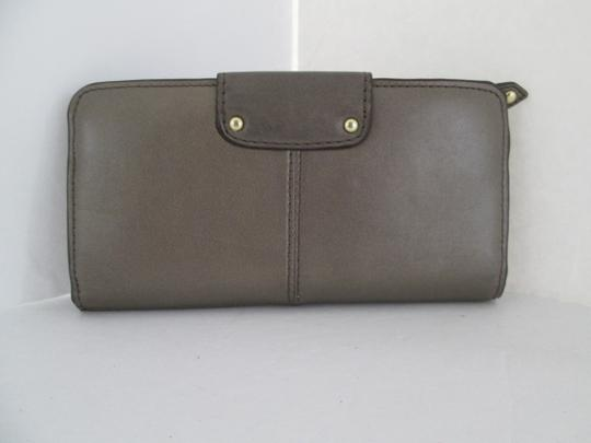 Coach COACH ASHLEY BIFOLD LEATHER WALLET PEWTER