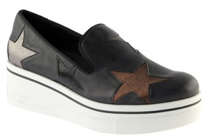 Stella McCartney Faux Leather Star Sneakers Black Athletic