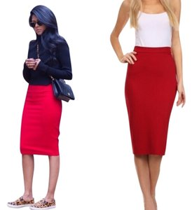 Boutique Skirt Red