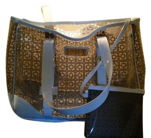 Trina Turk Tote in Clear / Grey Patterned