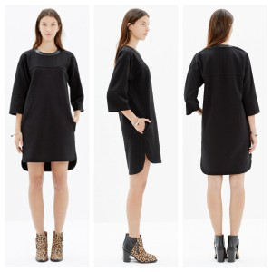 Madewell Leather Ponte Dress