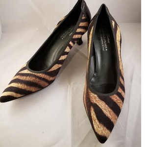 Donald J. Pliner Brown/Black Nylon Pumps