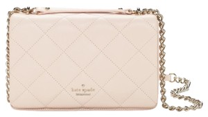 Kate Spade Leather Gold Quilted Cross Body Bag