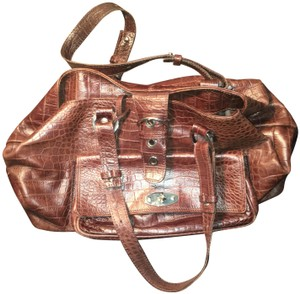 Suarez Alligator Skin Soft Good Condition Vintage Shoulder Bag