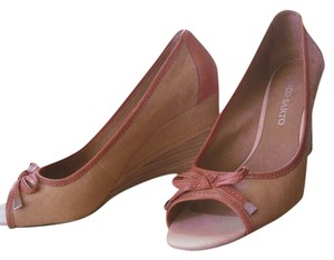 Franco Sarto Tan and mauve Wedges
