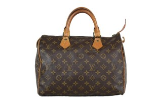 Louis Vuitton Speedy Monogram Canvas Tote in Brown