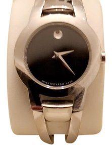 Movado stainless steel bangle bracelet watch