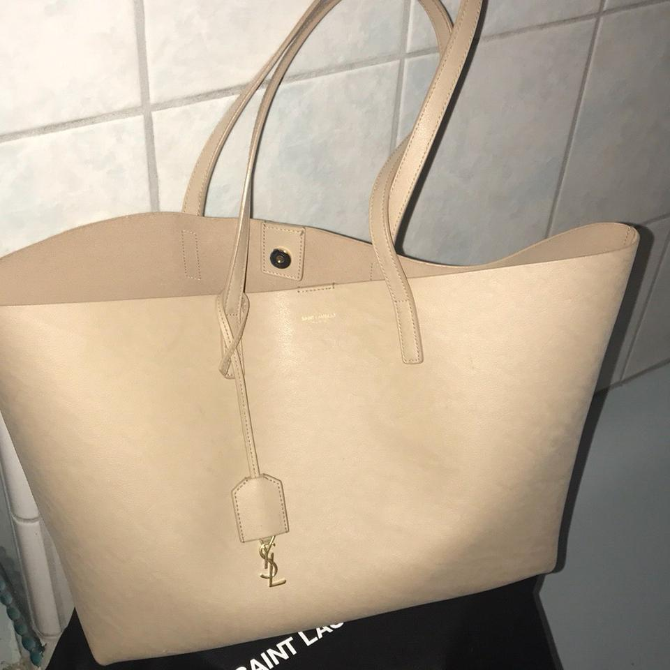 Taupe Saint Laurent Laurent Leather Taupe Tote Leather Saint XXxrv