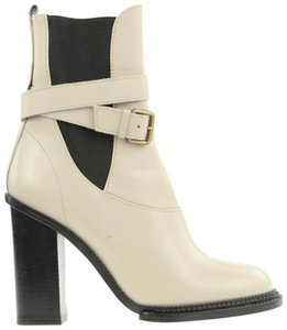 Derek Lam Italian Leather Buckle Rain Beige Boots
