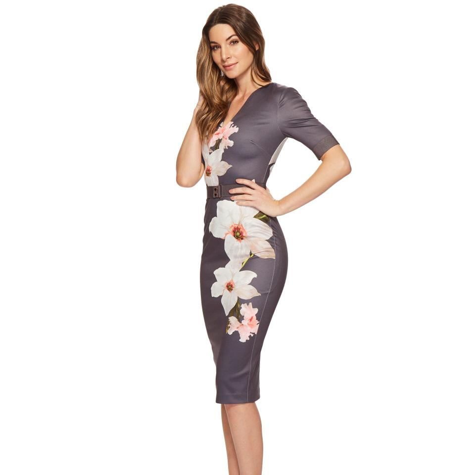 5086b5ee Ted Baker Gray Bisslee Chatsworth Bodycon Mid-length Cocktail Dress ...