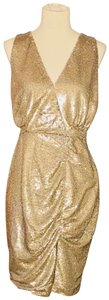 The Jetset Diaries Sequin Mini Sleeveless Gold Dress