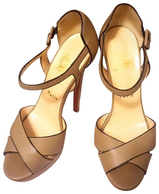 Item - Olive Nude Leather Sandals Size EU 37 (Approx. US 7) Regular (M, B)