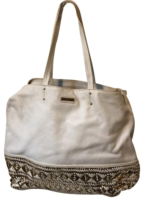 Item - White Leather Tote