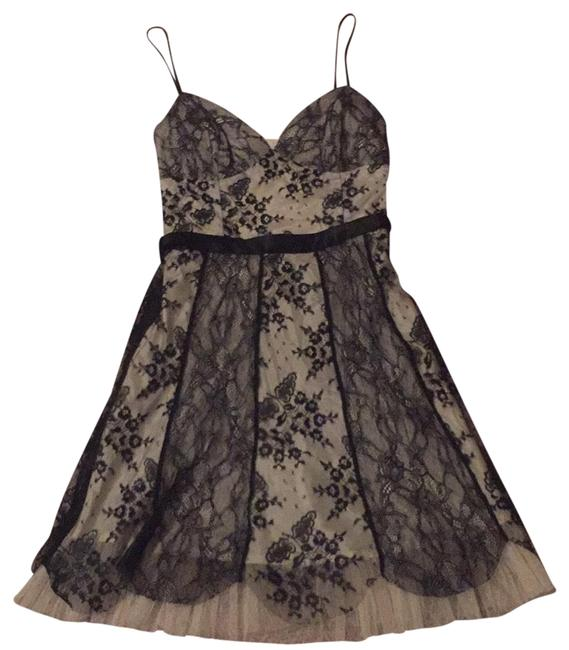Item - Black and Nude 338mc30 Short Cocktail Dress Size 8 (M)