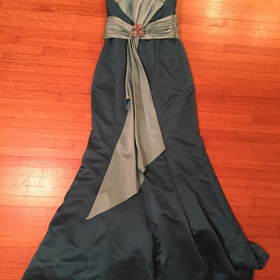 David\'s Bridal Turquoise Evening Gown Long Formal Dress Size 2 (XS ...