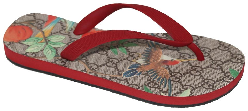 f72012b9316 Gucci Multicolor 427122 Women s Gg Tian Flip 37 Us7 Sandals. Size  US 7  Regular (M ...