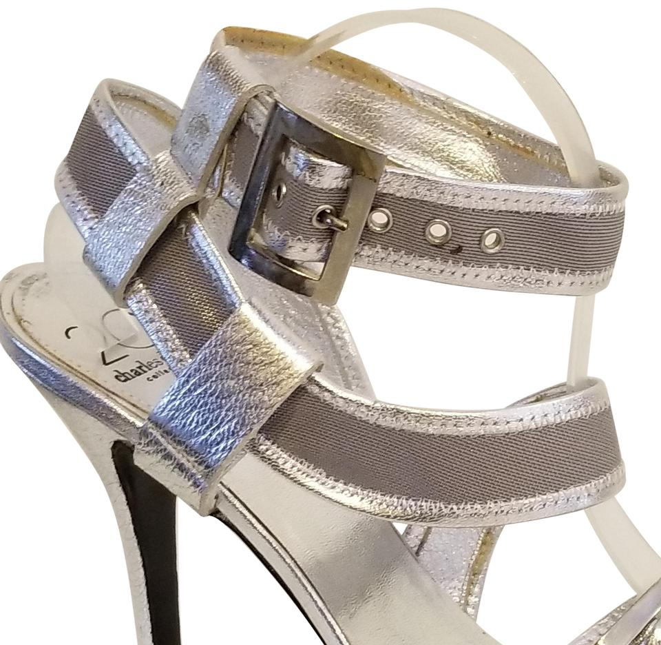 bf0a477cff67 Charles by Charles David Silver Sandals Size US 11 Regular (M