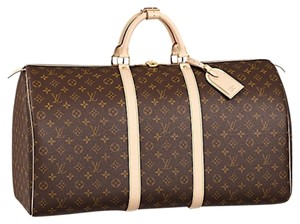 Louis Vuitton Canvas Brown Travel Bag