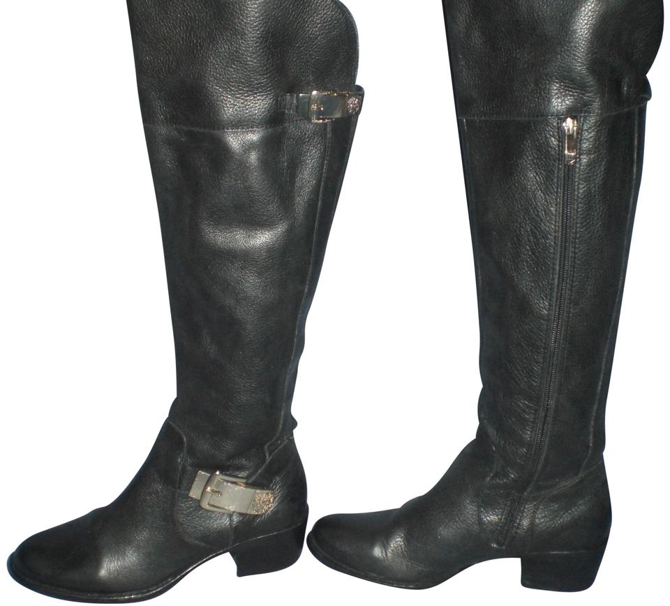 48fa0d1b012 Vince camuto black bocca calf leather buckled tall riding bootsbooties size  us regular jpg 960x869 Vince