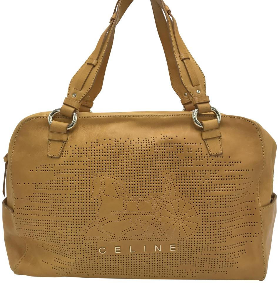 6a55fd7616 Céline Boston Yellow Leather Shoulder Bag - Tradesy