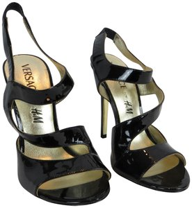Versace for H&M Limited Edition Patent Black Sandals