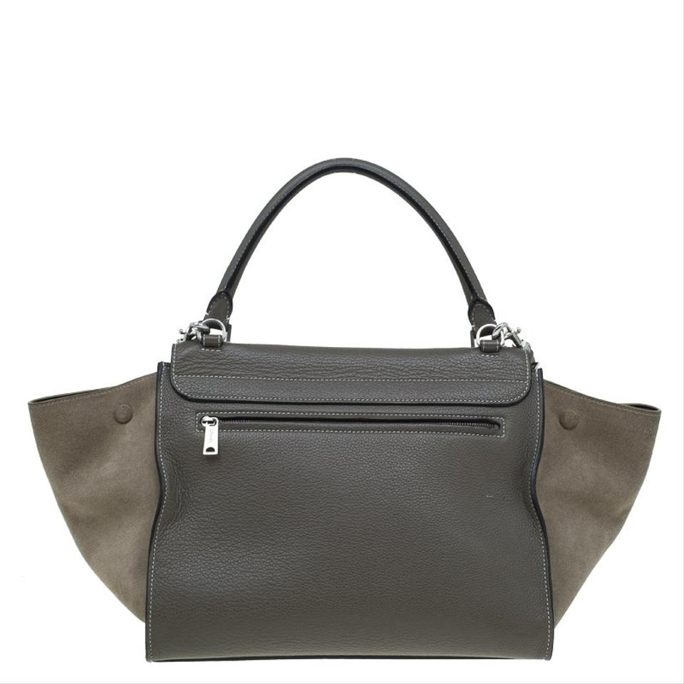 Trapeze Céline Tote Medium Leather Brown aYwFCq