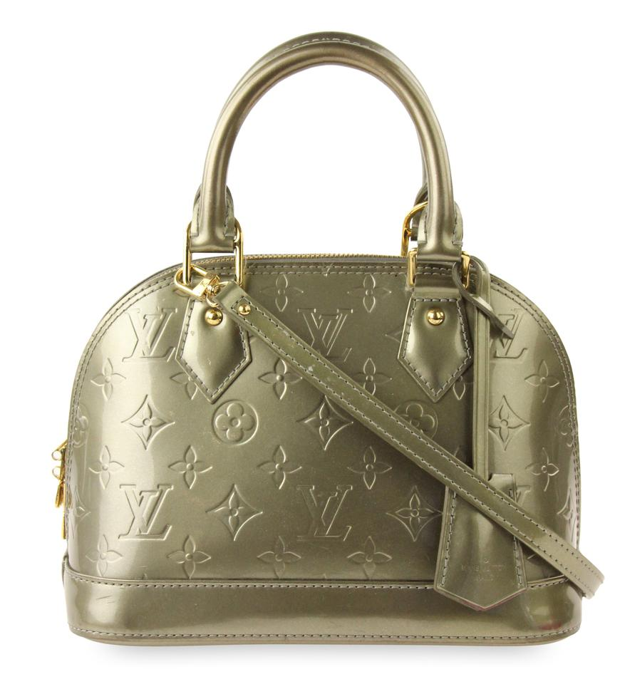 Louis Vuitton Alma Bb Vert Olive Green Patent Leather Satchel - Tradesy 877fd5799377a