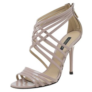 Dolce&Gabbana Dolce And Gabbana Criss Cross Strap Leather Beige Sandals