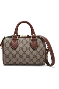 Gucci Mini Boston Vintage Boston Supreme Canvas Satchel in GG