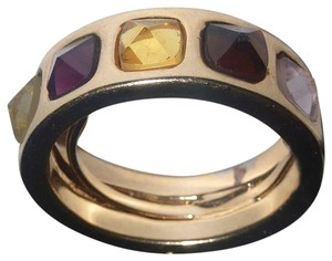 Marc by Marc Jacobs Adjustable Multi color Rhinestones stud band Ring Gold tone NWT