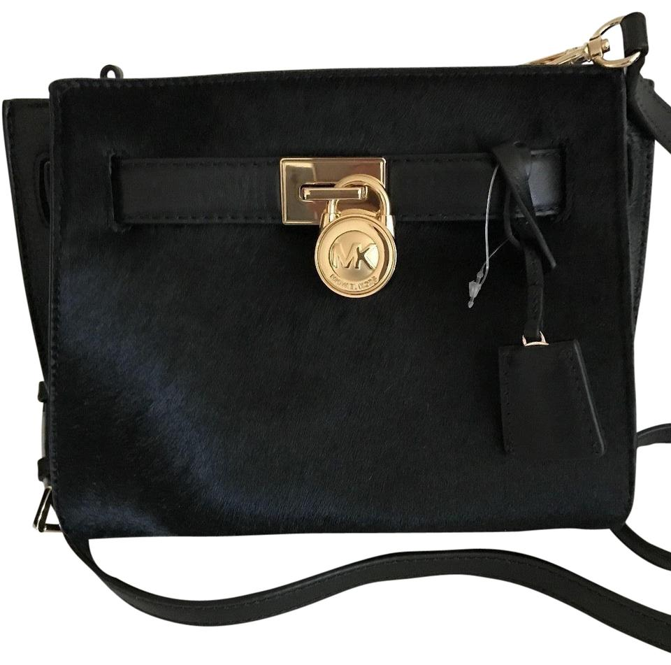 5f0485b35722 Michael Kors Shoulder Messenger Hamilton Traveler Haircalf Black ...