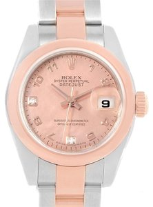 Rolex Rolex Datejust Steel EveRose Gold Rose Diamond Dial Lady Watch