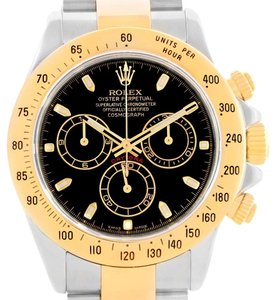 Rolex Rolex Daytona Steel 18K Yellow Gold Black Dial Mens Watch 116523