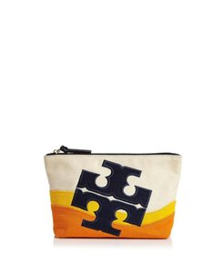 Tory Burch New With Tag BEACH LOGO COSMETIC CASE