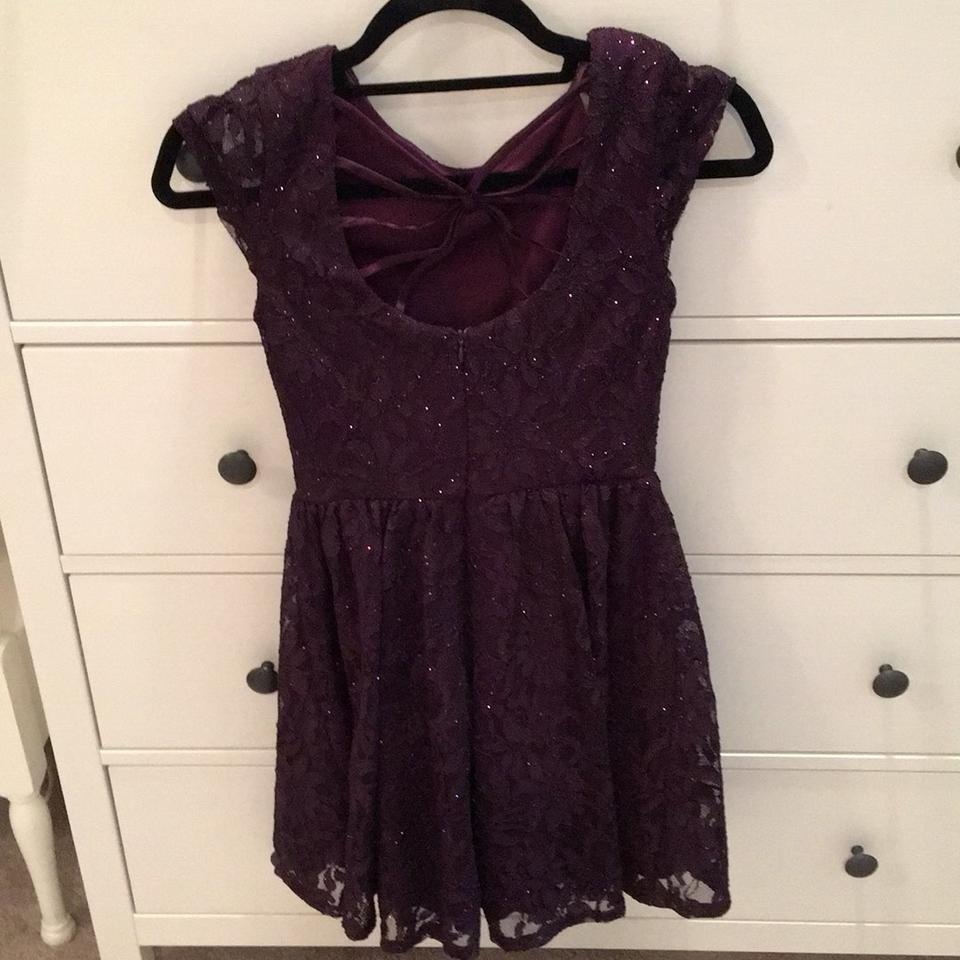 Speechless Purple Party Short Cocktail Dress Size 2 (XS) - Tradesy