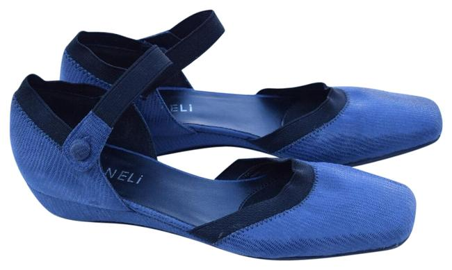 Item - Blue D'orsay Low Wedge Flats Size US 7.5 Narrow (Aa, N)