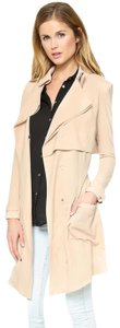 Haute Hippie Drape Textured Relaxed Spring Trench Coat