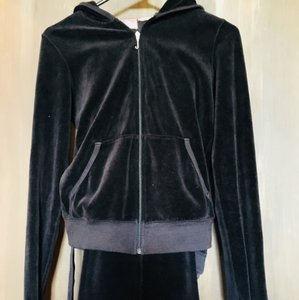 Juicy Couture velour hooded jacket, pants with decorative pockets