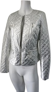 MICHAEL Michael Kors Quilted Metallic Silver Jacket
