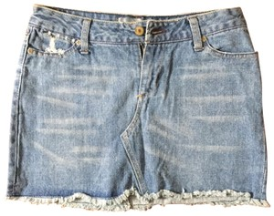 Paper Denim & Cloth Mini Skirt blue
