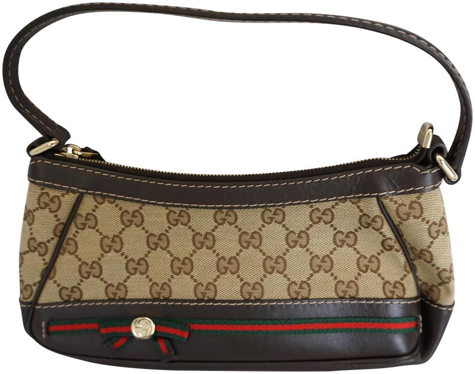 d12f951569f6 Gucci Gg Mayfair Small Handbag Brown Monogram Canvas   Leather Shoulder Bag