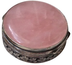 1/2 OFF SALE - FREE SHIPPING - Rose Quartz Antique Pill box (Swedish 100+ years old)