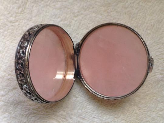 Other 1/2 OFF SALE - FREE SHIPPING - Rose Quartz Antique Pill box (Swedish 100+ years old)