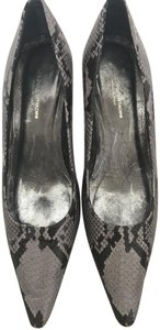 Adrienne Vittadini Dark Grey with Light Grey snake skin Pumps