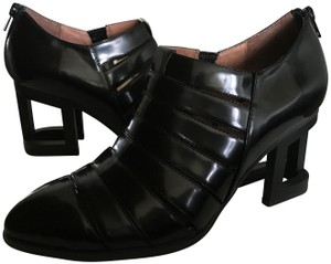 Jeffrey Campbell Metal Heel Black Patent Leather Boots